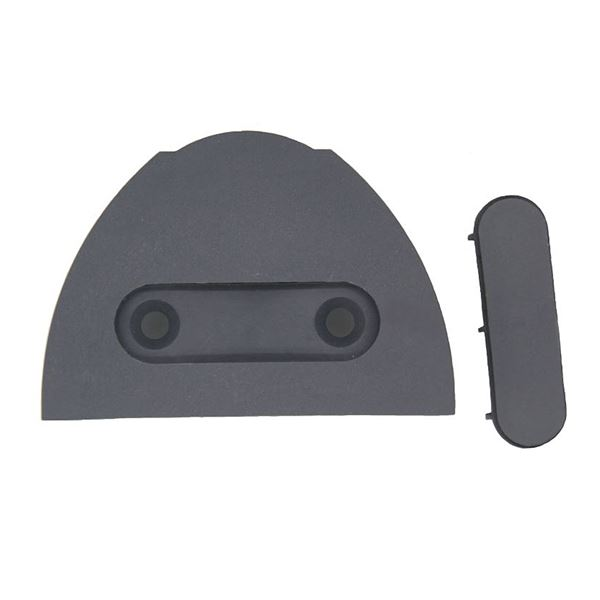 Charcoal Grey End Cap for Headrail or Baserail