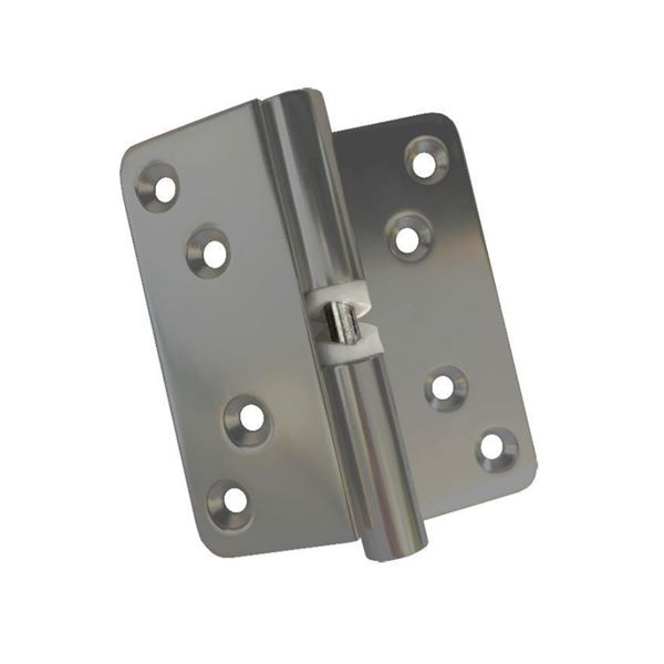 Satin Anodised Left Hand Outward Opening Door Hinge for HiZone and Quadro Cubicles