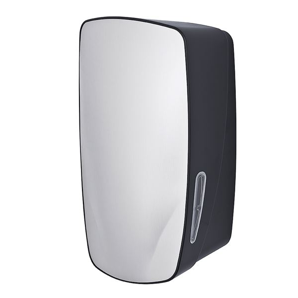 ABS Toilet Tissue Dispenser - Stainless Steel and Black