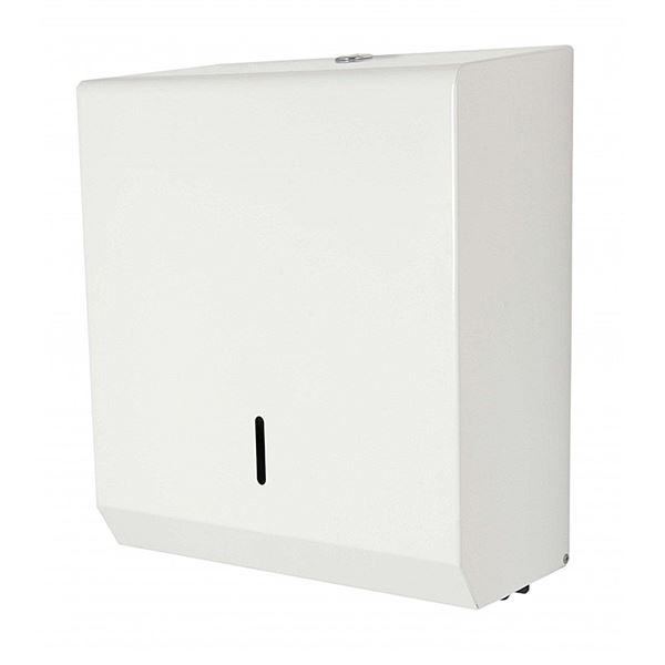 White Metal Paper Towel Dispenser