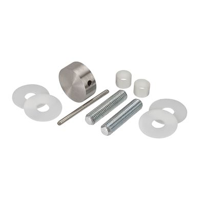 Door Handle Bolt Through Disc Set - Stainless Steel